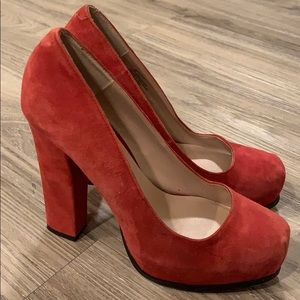 Betsey Johnson Red Pumps Sz 8 Excellent Condition!